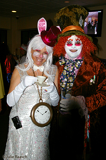 white rabbit and mad hatter